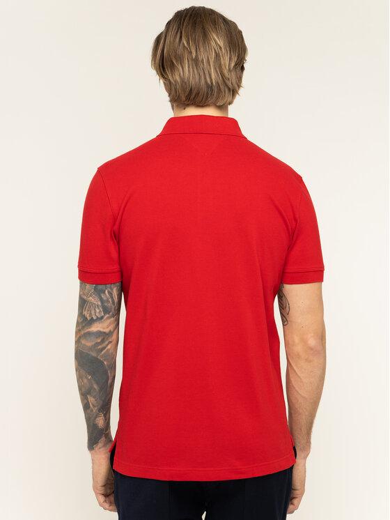 TOMMY HILFIGER TOMMY HILFIGER Polohemd Logo Embroidery MW0MW12246 Rot Regular Fit
