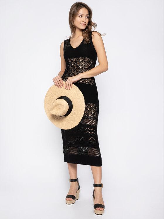 TWINSET TWINSET Плетена рокля 201LM3AAA Черен Slim Fit
