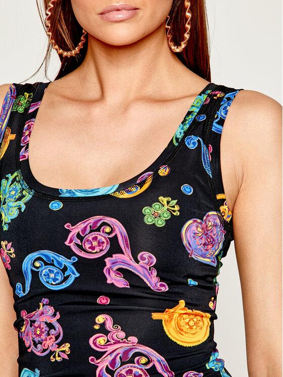 Versace Jeans Couture Versace Jeans Couture Vasarinė suknelė D2HVB439 Juoda Slim Fit