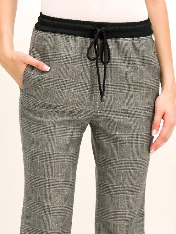 TwinSet TwinSet Spodnie materiałowe 192TT2441 Szary Regular Fit