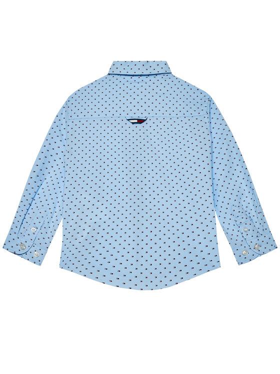 Tommy Hilfiger Tommy Hilfiger Koszula Mini Flag KB0KB06181 M Niebieski Regular Fit