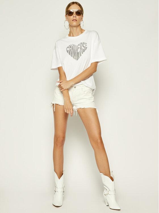 Converse Converse T-Shirt Heart Reverse Print Tee 10018940 Λευκό Relaxed Fit