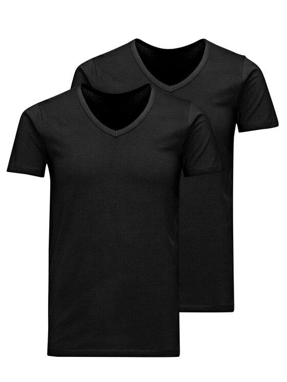 Jack&Jones 2 marškinėlių komplektas Basic 12133914 Juoda Slim fit