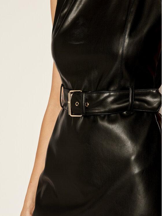 My Twin My Twin Φόρεμα δερμάτινο 192MP2021 Μαύρο Slim Fit