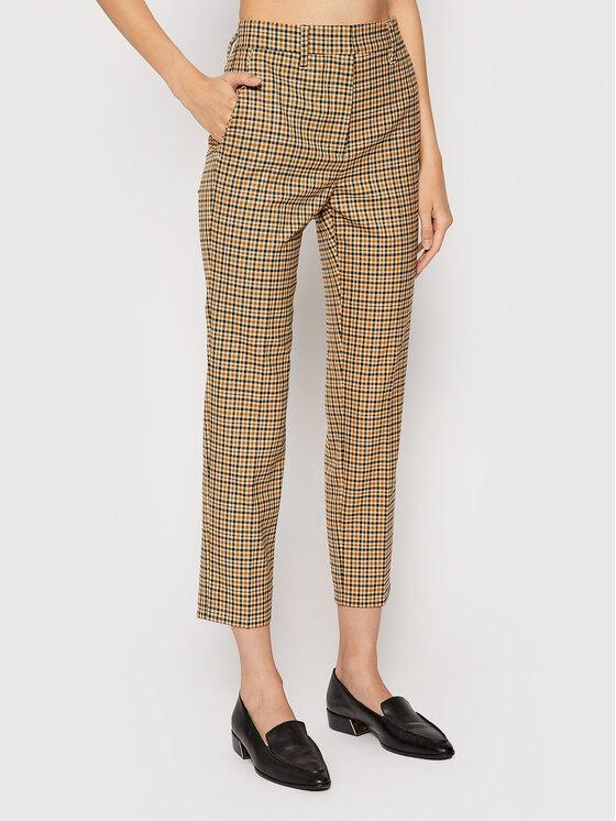 Levně Marella Kalhoty z materiálu Petalo 31361517 Béžová Slim Fit