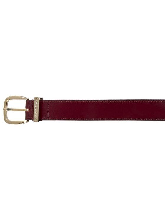 Trussardi Trussardi Jeans Dámský pásek Passante Logo Inciso Cint 75C531 80 Bordó