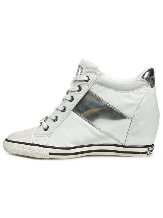 Calvin Klein Jeans Calvin Klein Jeans Sneakers Violet Brush Off Kid RE9088 Bianco