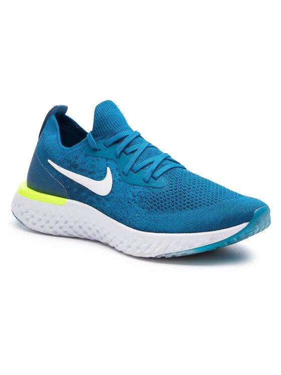 Nike Nike Buty Epic React Flyknit AQ0067 302 Niebieski