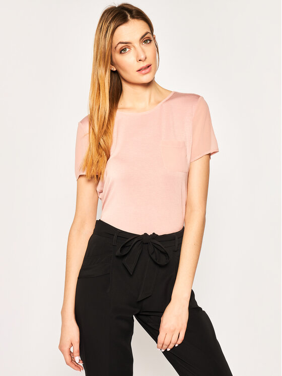 Calvin Klein Swimwear Calvin Klein Swimwear T-Shirt Mix Media K20K201963 Ροζ Regular Fit