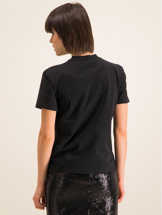MSGM MSGM T-Shirt 2841MDM100 207298 99 Czarny Regular Fit