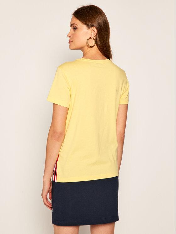 Tommy Hilfiger Tommy Hilfiger T-Shirt Thea C-Nk Tee WW0WW28025 Κίτρινο Regular Fit