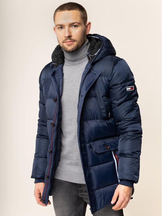 Tommy Jeans Tommy Jeans Giubbotto invernale Mixed Fabric DM0DM06909 Blu scuro Regular Fit