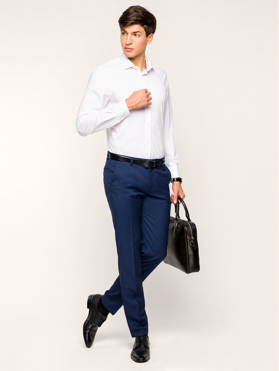 Tommy Hilfiger Tailored Tommy Hilfiger Tailored Košeľa TT0TT05565 Biela Slim Fit
