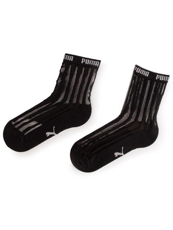 Puma Puma Set de 2 perechi de șosete lungi de damă 907366 Negru