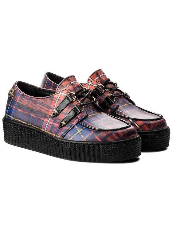 TOMMY HILFIGER TOMMY HILFIGER Chaussures basses Gigi Hadid Creeper Shoe FW0FW02200 Rouge