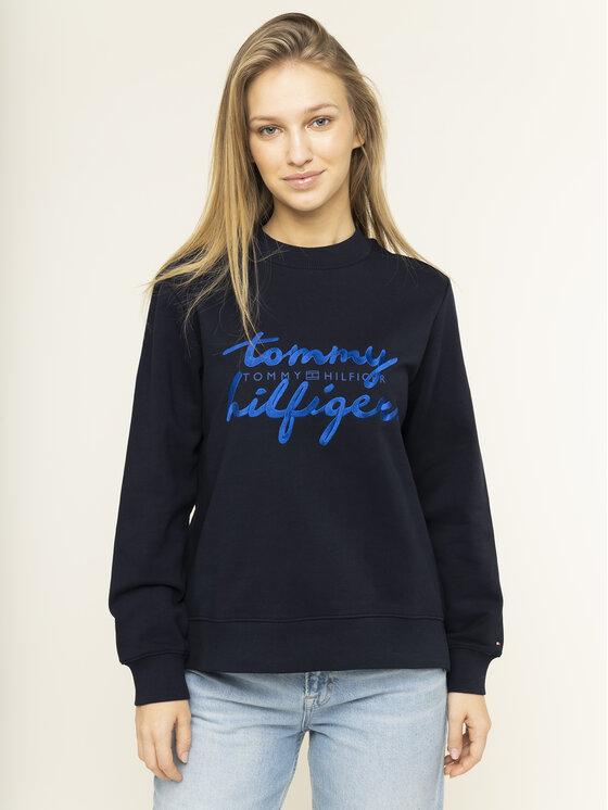Tommy Hilfiger Tommy Hilfiger Μπλούζα Romy WW0WW26669 Σκούρο μπλε Regular Fit