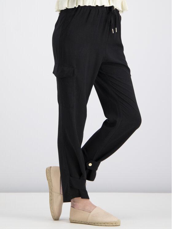 My Twin My Twin Текстилни панталони Cargo 191MT2312 Черен Regular Fit