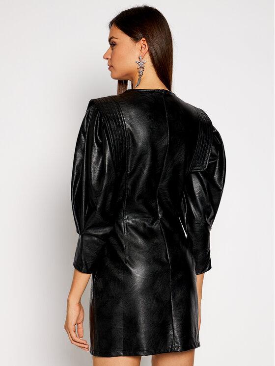 Imperial Imperial Sukienka z imitacji skóry AA5AABD Czarny Slim Fit