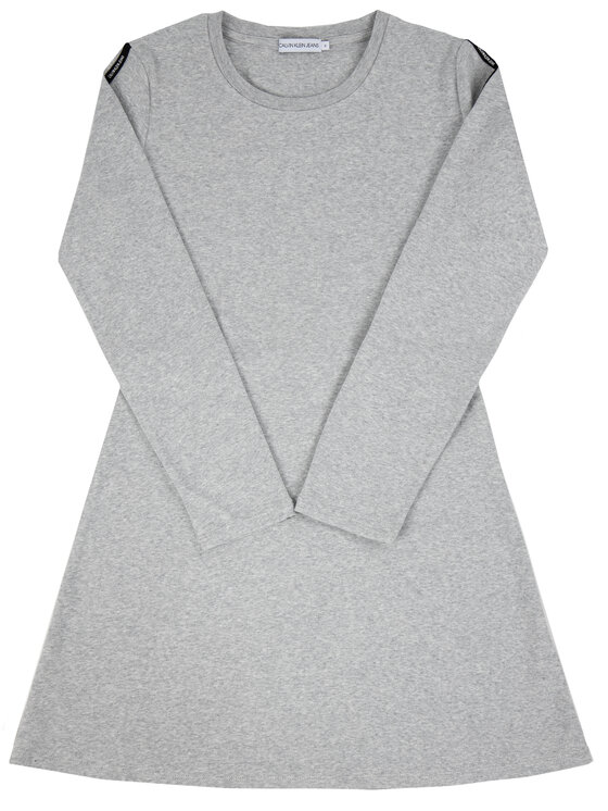 Calvin Klein Calvin Klein Sukienka codzienna Logo IG0IG00332 Szary Regular Fit