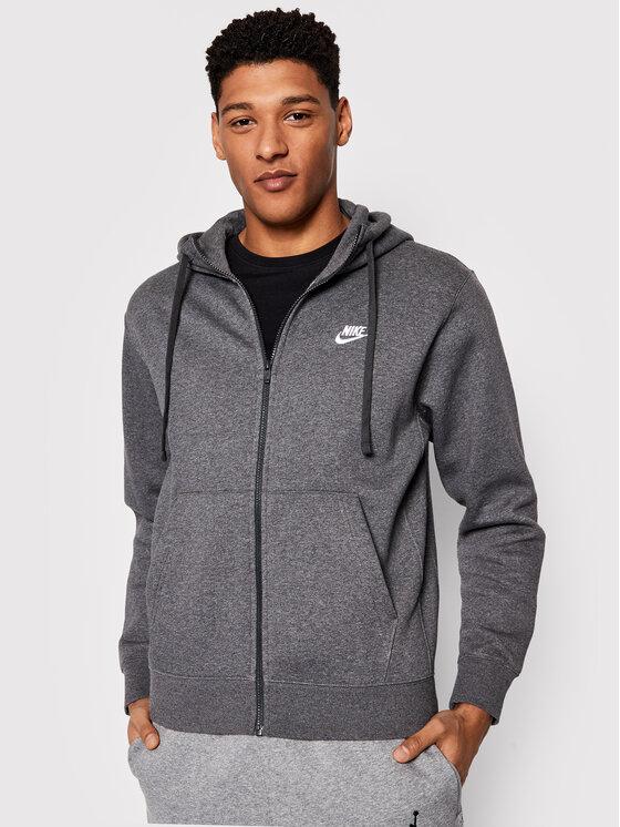 Nike Nike Bluza Club Hoodie BV2645 Szary Regular Fit