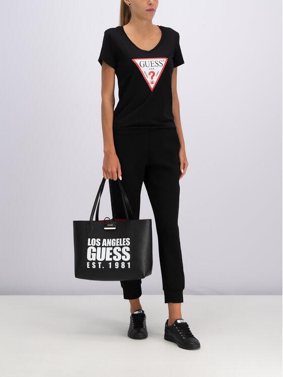 Guess Guess Παντελόνι φόρμας W84B18 K7UW0 Μαύρο Regular Fit