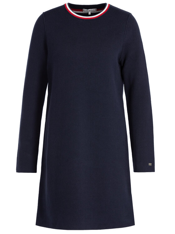 Tommy Hilfiger Tommy Hilfiger Φόρεμα υφασμάτινο Henie WW0WW25819 Σκούρο μπλε Regular Fit