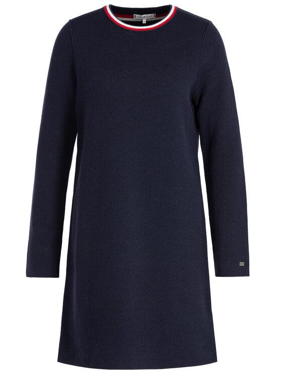 Tommy Hilfiger Tommy Hilfiger Плетена рокля Henie WW0WW25819 Тъмносин Regular Fit