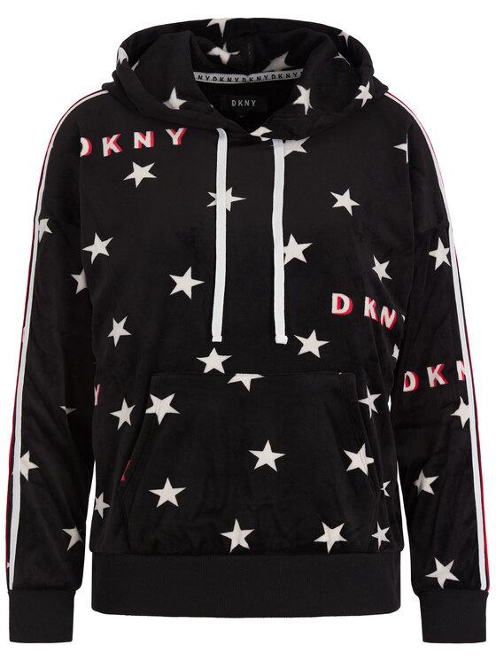 DKNY DKNY Bluză YI2019480 Negru Regular Fit