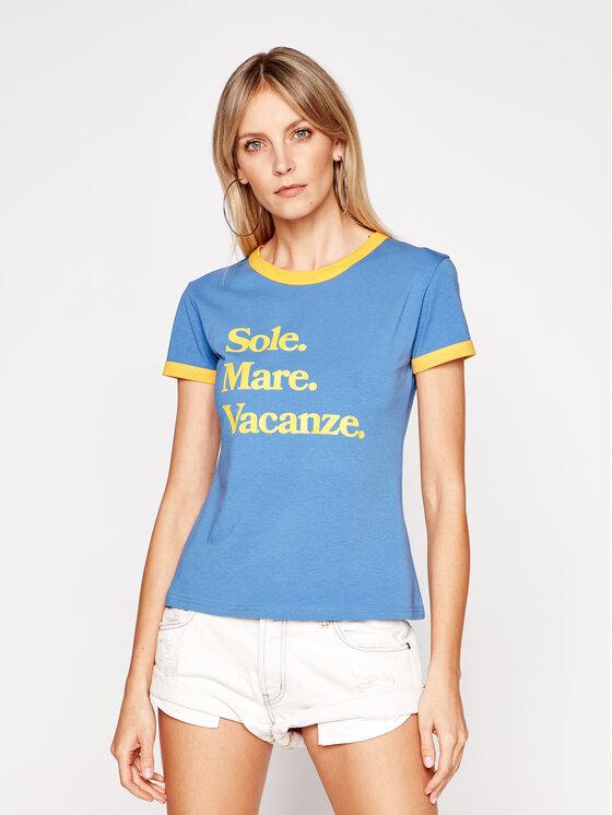 Drivemebikini Marškinėliai Sole Mare Vacanze 2020-DRV-001_BY Mėlyna Fitted Fit