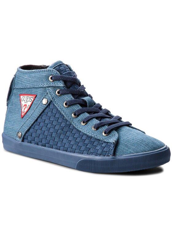 Guess Guess Sneakersy FJBEN3 DEN12 Tmavomodrá