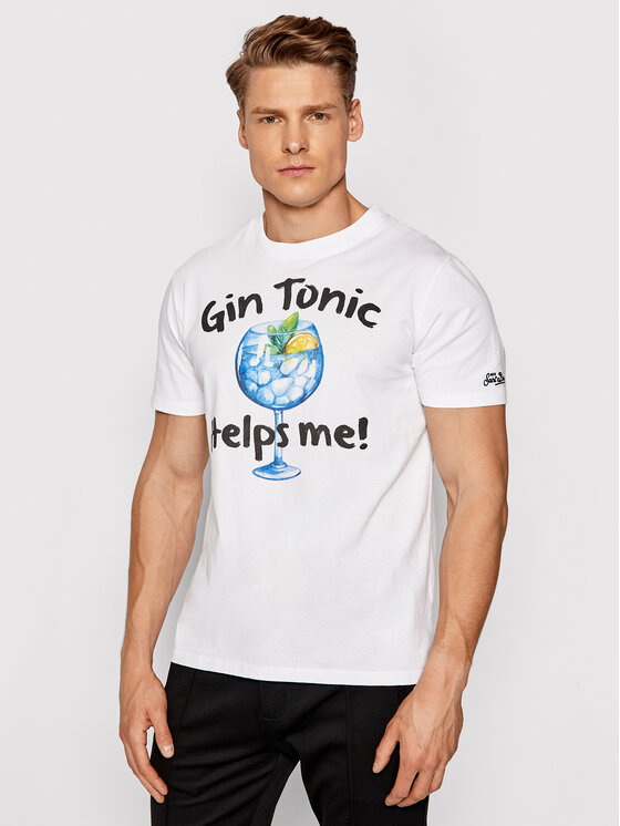 MC2 Saint Barth Marškinėliai Tshirt Man TSHM001 GIHE01 Balta Slim Fit