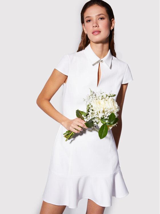 Morgan Sukienka koszulowa 211-RCARRY Biały Slim Fit