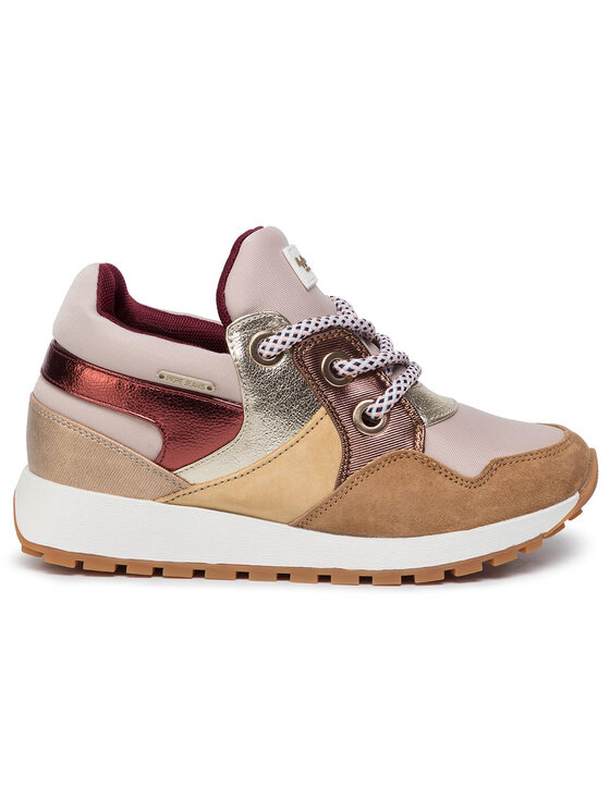 Pepe Jeans Pepe Jeans Sneakersy Dean Fashion PLS30883 Beżowy
