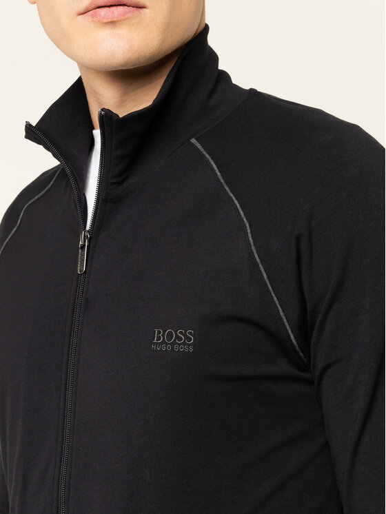 Boss Boss Bluza Mix&Match 50379013 Czarny Regular Fit