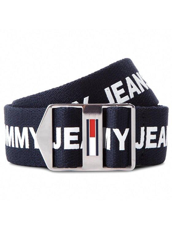 Tommy Jeans Tommy Jeans Dámsky opasok Tjw Driving Webbing AW0AW05569 75 Tmavomodrá
