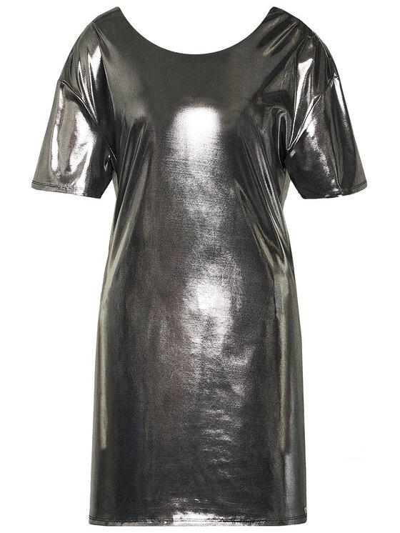 Guess Guess Sukienka koktajlowa Cindy W0YK77 K9VC0 Srebrny Regular Fit