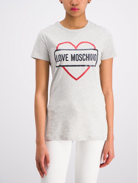 LOVE MOSCHINO LOVE MOSCHINO Tričko W4F7348E2011 Sivá Regular Fit