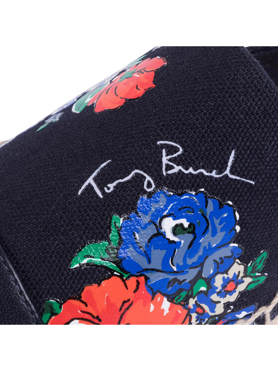 Tory Burch Tory Burch Espadrilles Color Block Flat Espadrille 65112 Sötétkék