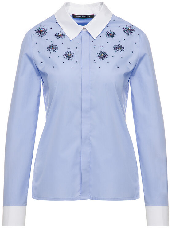 Pennyblack Pennyblack Koszula Efficace 21145219 Niebieski Regular Fit
