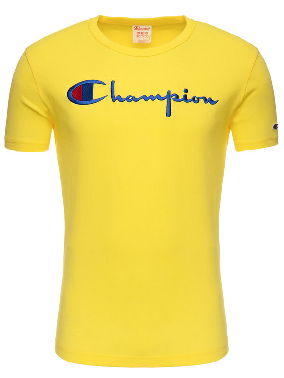 Champion Champion Тишърт 210972 Жълт Regular Fit