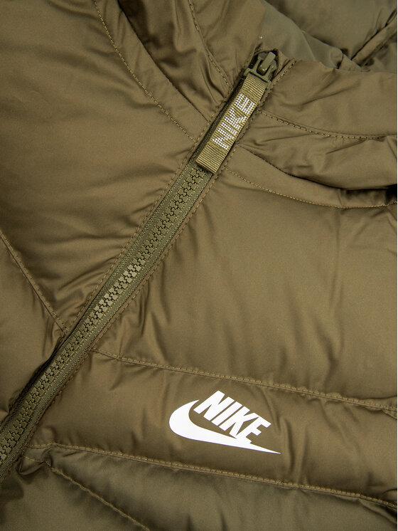 Nike Nike Пухено яке 939554 Зелен Loose Fit