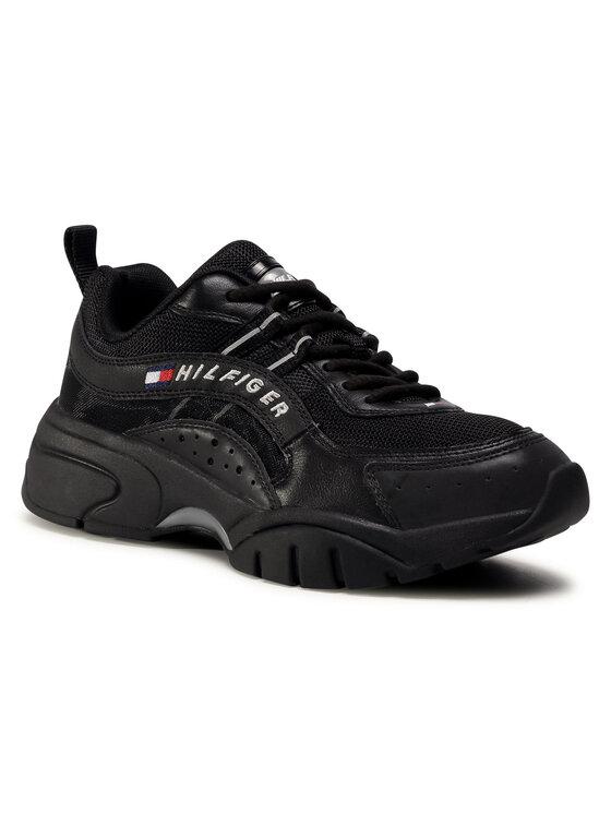 Levně Tommy Jeans Sneakersy Hertage Tommy Jeans Runner EM0EM00482 Černá