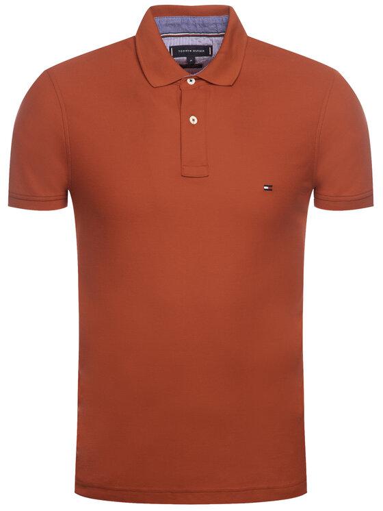 TOMMY HILFIGER TOMMY HILFIGER Polokošeľa Premium Pique MW0MW12569 Červená Slim Fit