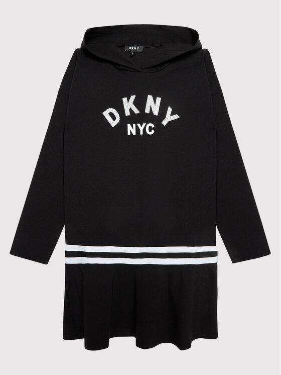 DKNY DKNY Haljina za svaki dan D32804 D Crna Regular Fit