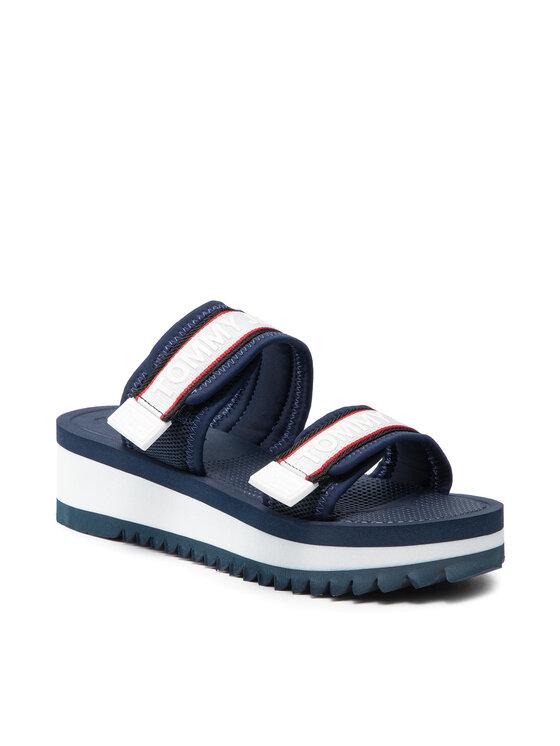 Tommy Jeans Klapki Color Pop Mule Sandal EN0EN01326 Granatowy