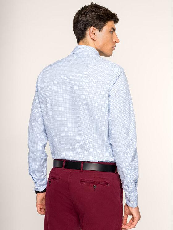 Tommy Hilfiger Tailored Tommy Hilfiger Tailored Риза Stretch Print Classic TT0TT05560 Син Slim Fit