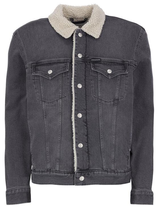 Calvin Klein Jeans Jeansjacke J30J314387 Grau Regular Fit