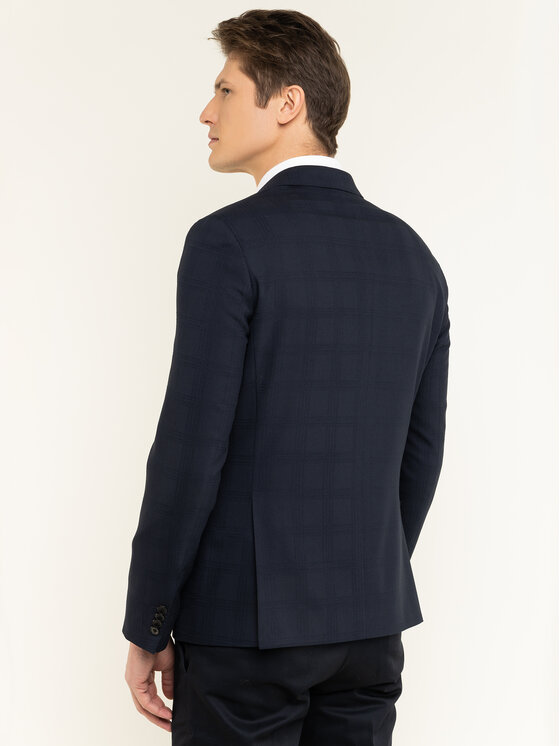 Tommy Hilfiger Tailored Tommy Hilfiger Tailored Blazer Check  Flex TT0TT06692 Blu scuro Slim Fit