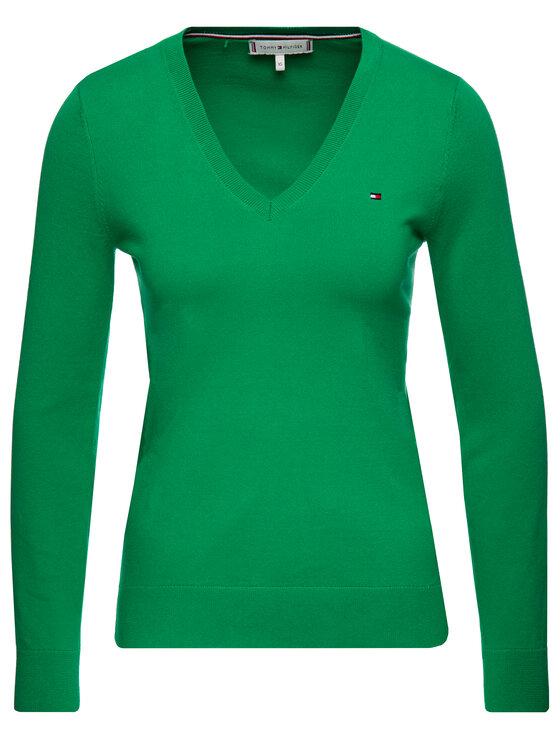 Tommy Hilfiger Tommy Hilfiger Sweter New Ivy 1M87650121 Zielony Regular Fit