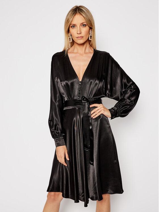 TwinSet Sukienka koktajlowa 202TP2140 Czarny Regular Fit